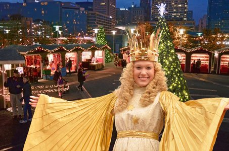 christmas village in baltimore sails back to west shore park with its grand opening ceremony on - Christmas In Baltimore