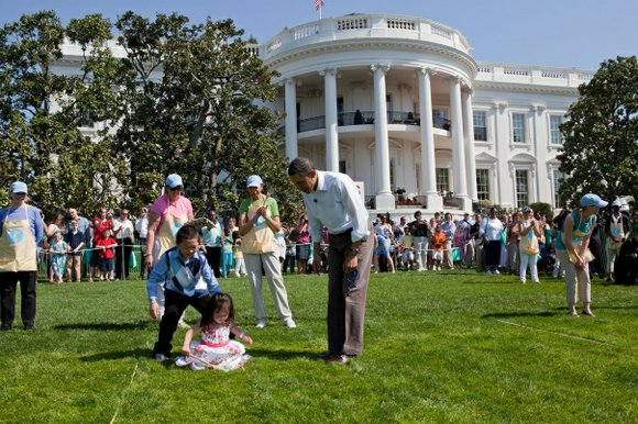 Weather permitting, the White House Easter Egg Roll has been held every Monday after Easter on the South Lawn except ...