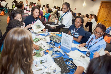"The College of Southern Maryland hosted 150 area middle school students Wednesday, December 3, 2014 for the ""Cool Careers in ..."