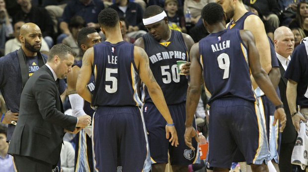 Head coach Dave Joerger has the attention of the Grizzlies and it shows. (Photo: Warren Roseborough)