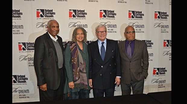 The honorees: Frank Robinson, Charlayne Hunter-Gault, Tom Brokaw and Robert Parris Moses. (Photo: Tyrone P. Easley)