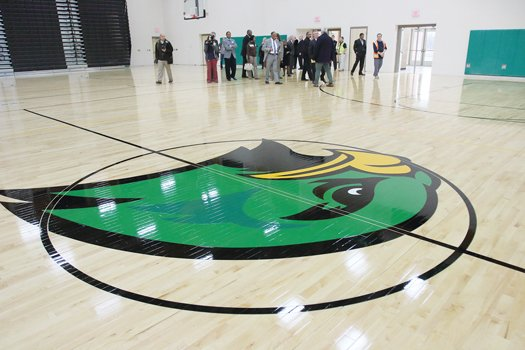 A 2,500-seat, three-court gymnasium is a highlight of the new $63 million Huguenot High School building on Forest Hill Avenue that is opening Jan. 5.