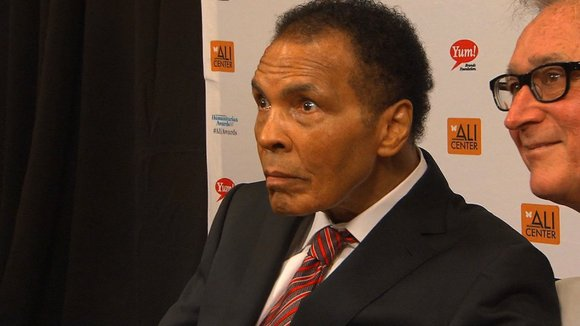"Famed boxer Muhammad Ali has ""vastly improved"" after being hospitalized over the weekend with a mild case of pneumonia, his ..."