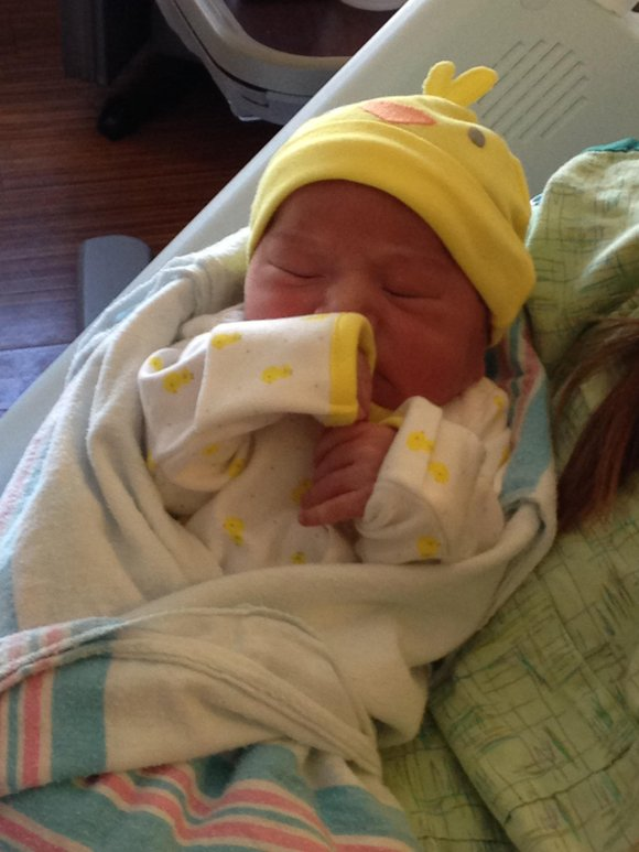 The boy was delivered at 2:31 a.m. Thursday to Mariela Rodiguez and Arturo Roman.