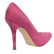 "The Shirley 105 Fuchsia Textured ""Pony Hair"" Pump"