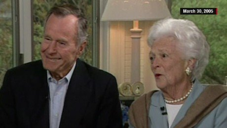 On Tuesday President George HW Bush And First Lady Barbara Celebrate Their Platinum Anniversary