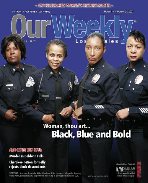 The Los Angeles Police Department (LAPD) has played a pivotal role in opening the door for women to become police officers. In 1910, the agency promoted the first female police officer with full power. This act made Alice Stebbins Wells the first police woman in the United States. Six years later, under pressure from Black women's groups in the city, Georgia Ann Robinson was hired as the first African American female officer. Inner-city schools requested additional copies of this issue to be used as a tool to empower young girls.