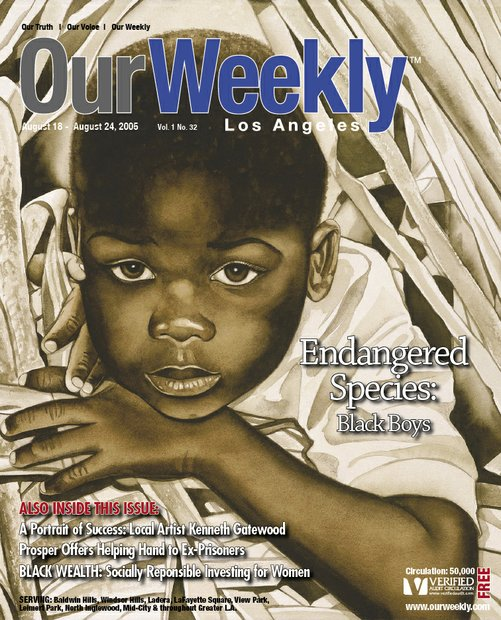 African American boys have been hunted by slavers, racists, Black and Hispanic gangs, and law enforcement. The cover, painted by artist Kenneth Gatewood, represents an endangered boy using mimicry, an instinctive behavior animals use to blend into an environment and hide.The boy appears to be resting before again being pursued by his predators. His brown skin is his camouflaged among the  surrounding brown foliage.