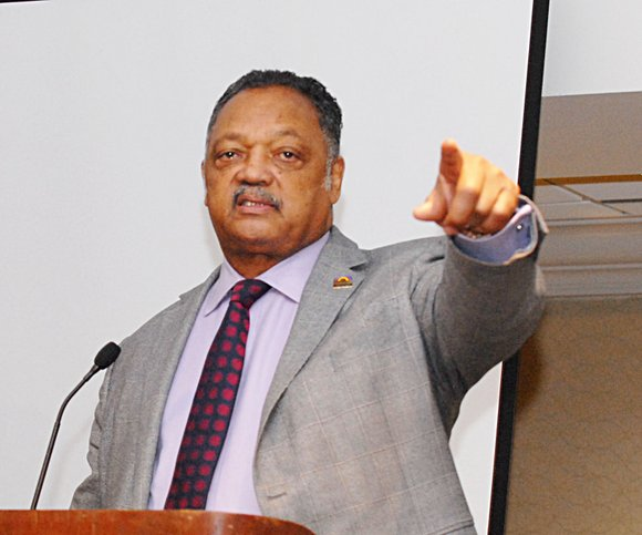 The Rev. Jesse Jackson kicked off his 18th annual Rainbow PUSH Wall Street Project Tuesday at the Sheraton Hotel in ...