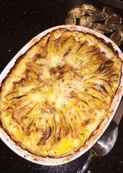 Hasselback gratin potatoes