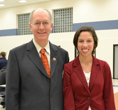 Tara Linney, who teaches computer technology and coding, was invited to attend the event with U.S. Rep. Bill Foster.