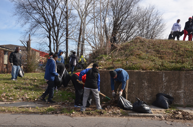 For many, Dr. Martin Luther King Jr. Day is a time for service such as neighborhood clean up. (Photo: Tyrone P. Easley)