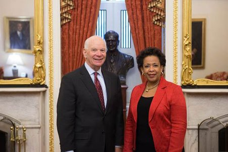 United States Senator Ben Cardin (D-Md.) met Thursday, January 9, 2015 with current United States Attorney for the Eastern District ...