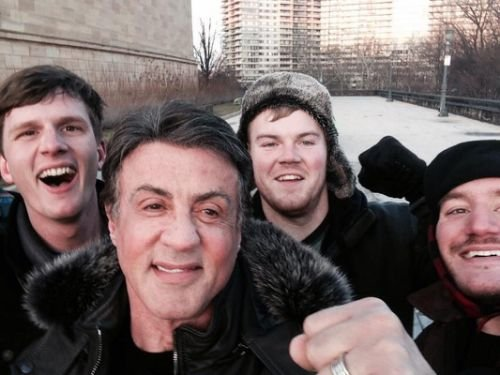 "A group of tourists who ran up the ""Rocky"" steps got a knockout photo at the top — a selfie ..."