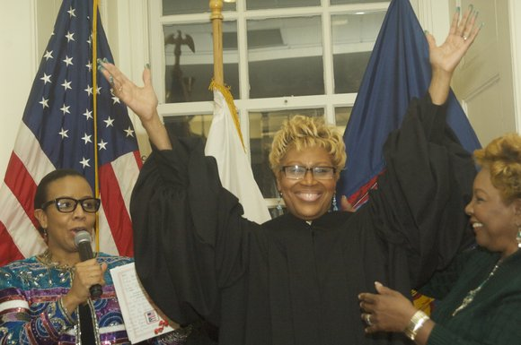 Judge Evelyn J. Laporte was sworn in as a justice of the Supreme Court of the state of New York.