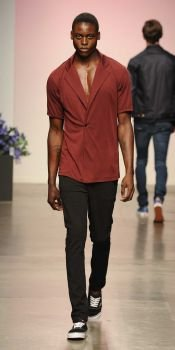Marsala-hued clothing looks great on men too.
