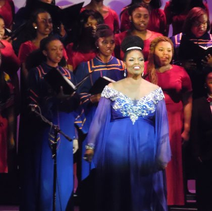 Soprano Angela M. Brown who has graced prestigious opera and symphonic stages around the world, performed before approximately 300 supporters ...