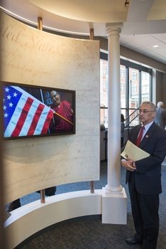 "Congressman Robert C. ""Bobby"" Scott of Newport News at the opening of the First Freedom Center in Richmond's Downtown on Jan. 16, 2015, National Religious Freedom Day.  Photo by James Haskins/Richmond Free Press."