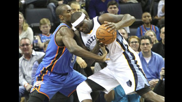 Zach Randolph continues his roll as Grizzlies bounce Thunder 85-74 for 6th straight.