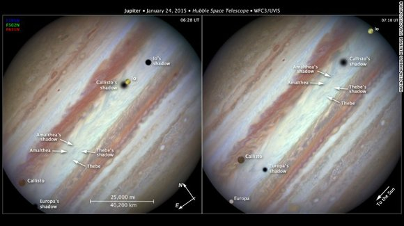 So, Hubble shot photos rapid fire to capture the rare conjunction in late January. And STScI published them on Thursday, ...