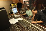 Boo Mitchell and Mark Ronson at work in the historic Royal Studios. (Courtesy photos)