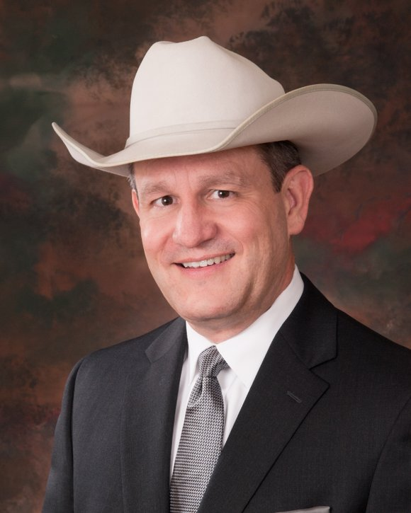 Joel Cowley, CEO, of the Houston Livestock Show and Rodeo (HLSR) was on hand to speak to a group of ...