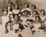 A historical photo from Portland's 10th annual Les Femmes Deputante Ball.