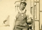 A photo from city of Portland archives shows Ninie Mae Locke, one of the thousands of African-American laborers who went to work in the Portland shipyards during World War II building Victory ships.