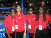 The Millrose Games got a big boost of assistance from these busy volunteers.(Lois Elman Millrose Games photos)