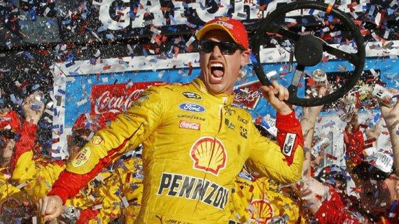 Joey Logano won the Daytona 500 on Sunday to capture NASCAR's season-opening Sprint Cup race.