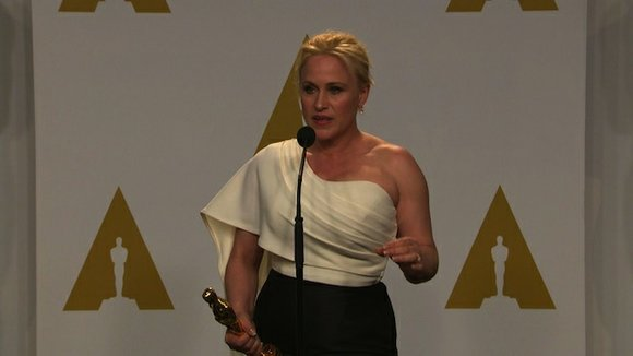 Oscar winner Patricia Arquette used her acceptance speech Sunday night to call for pay equality.