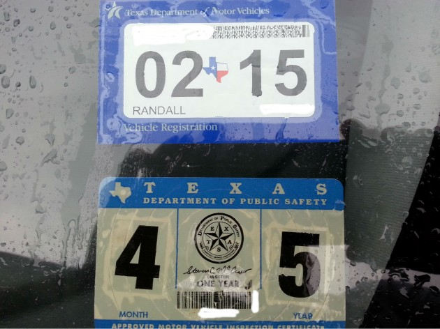 Vehicle registration and inspection stickers program for Department of motor vehicles houston texas