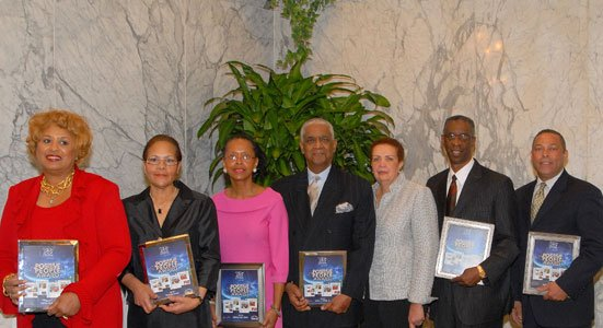 Jackie Bailey (left) was a recipient of The Baltimore Times 25th Anniversary Positive People Award in 2011. Other award recipients that year include: Victoria Wynn (Total Health Care); Martena Wylie-Clinton (Wylie Global Travel); John J. Oliver (Afro American Newspapers); Joy Bramble, publisher of The Baltimore Times; Stanley W. Tucker (Meridian Management Group); and Joseph Whittaker (Morgan State University).