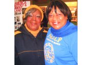Rosa Pryor, CEO of the Rosa Pryor Music Scholarship Fund and Tessa Hill Aston, President of Baltimore City NAACP hanging out recently at the Lexington Market for Black History Month.
