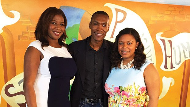 Chanel Nicole White, of MDCTV, James Pierre Director of JNR Productions, and Melissa James, CEO of The Tech Connection