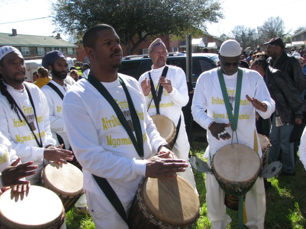 Drummers from First Afrikan Presbyterian Church in Lithonia will perform on March 8 at the Mall West End in Atlanta as participants leave for the 50th anniversary commemorative Selma March.