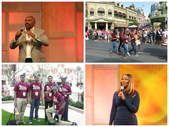 Walt Disney World Resort welcomes the 100 teens selected to participate in 2015 Disney Dreamers Academy with Steve Harvey and ...