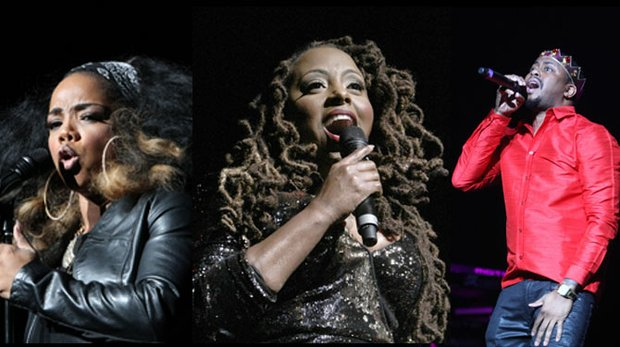 Ledisi did what stars with one stage name do – she brought it during the Fred Jones-promoted concert at the Orpheum Theatre on Saturday night. Leela James was the opening act and set the tone for an evening of pleasure at the Orpheum.  Raheem Devaughn directs the crowd to join him in recording the moment and sharing it via social media during his performance at the Orpheum Theatre on Saturday. (Photos: Warren Roseborough)