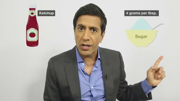 CNN's Dr. Sanjay Gupta explains how added sugar is hiding in a lot of unexpected foods, causing us to consume ...