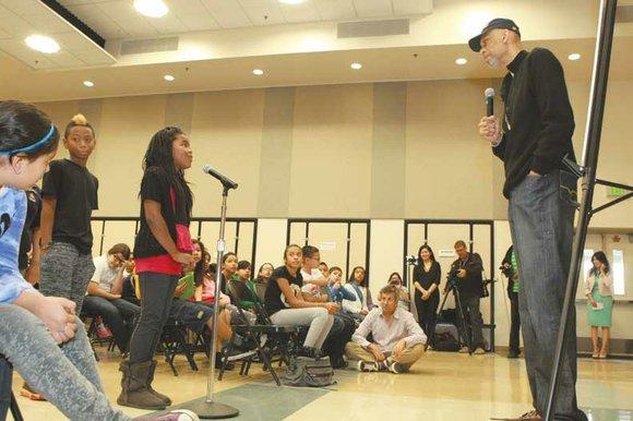 "Laker great Kareem Abdul-Jabbar stopped by Kingsley Elementary School recently to kick start the ""Read Across America"" program. He spoke ..."