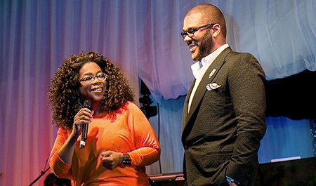 In the upcoming OWN: Oprah Winfrey Network primetime television event, Tyler Perry hosts a star-studded evening at his home to ...