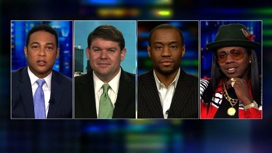 "Things got testy on ""CNN Tonight"" when conservative commentator Ben Ferguson charged that rappers like Trinidad James were profiting off ..."