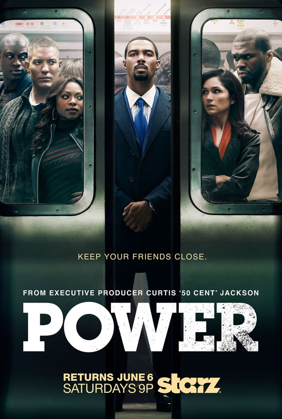 "Starz also released the never-before-seen key art for season two of ""Power,"" which features the main ""Power""-players fighting to stay ..."