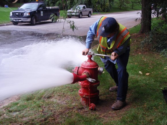 The hydrants at Cedar and Division streets are being flushed to allow for future main replacement work, the city said ...