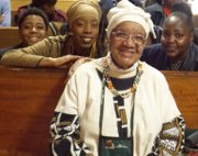 (Pictured Center), 'Queen Mother' Rev. Helen Sinclair, 94, one of Civil Rights activist, Rev. Willie Taplin Barrow's close friends and fellow activist, is surrounded by a few of Rev. Barrow's many godchildren. Rev. Barrow died March 12, 2015, at age 90.