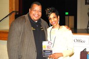 Dr. Gregory Wm. Branch, director and Ursula V. Battle, playwright.