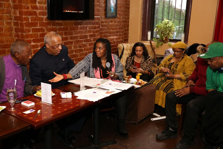 Amnews hosts meet and greet event in brooklyn new york amsterdam community members and local leaders came together at therapy wine bar in brooklyn for coffee m4hsunfo