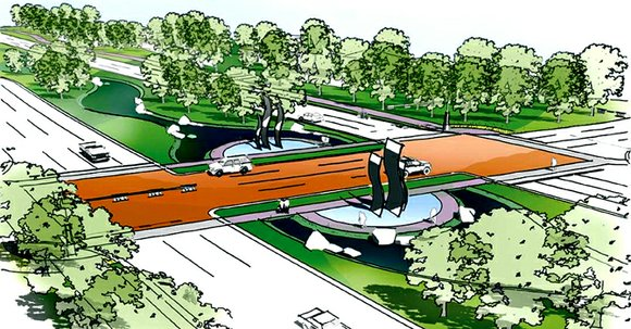 The city of Dallas and Texas Department of Transportation are working to construct freeway-to-freeway roadway ramps that link Julius Schepps ...