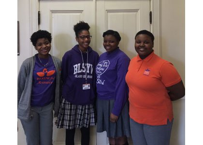 Representing the ladies of Baltimore Leadership School for Young Women and Office of College Counseling, these students deserve a standing ...