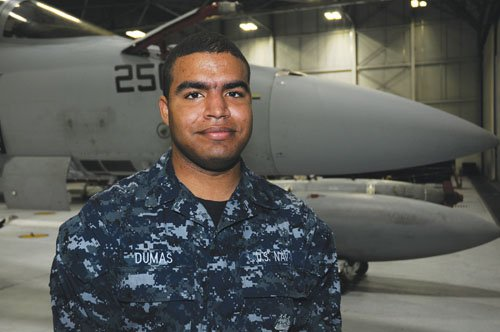 Tyrone Dumas of Portland has embarked on a Navy career serving as an Airman Apprentice with an elite group known ...